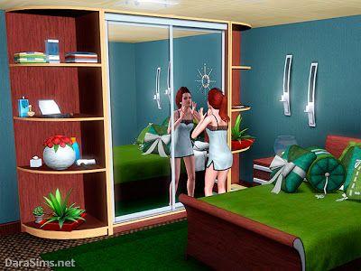 Object Sets Sliding Wardrobe Set Sims 3 Custom Content