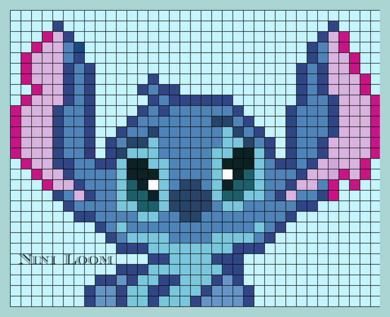 Stitch Perler Bead Pattern Crochet C2c Afgahn Graphs