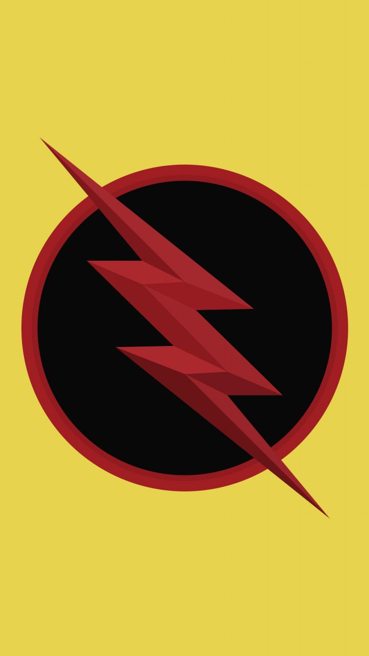 Reverse Flash Logo Dc Comics Minimal 720x1280 Wallpaper Flash Wallpaper Reverse Flash Flash Logo