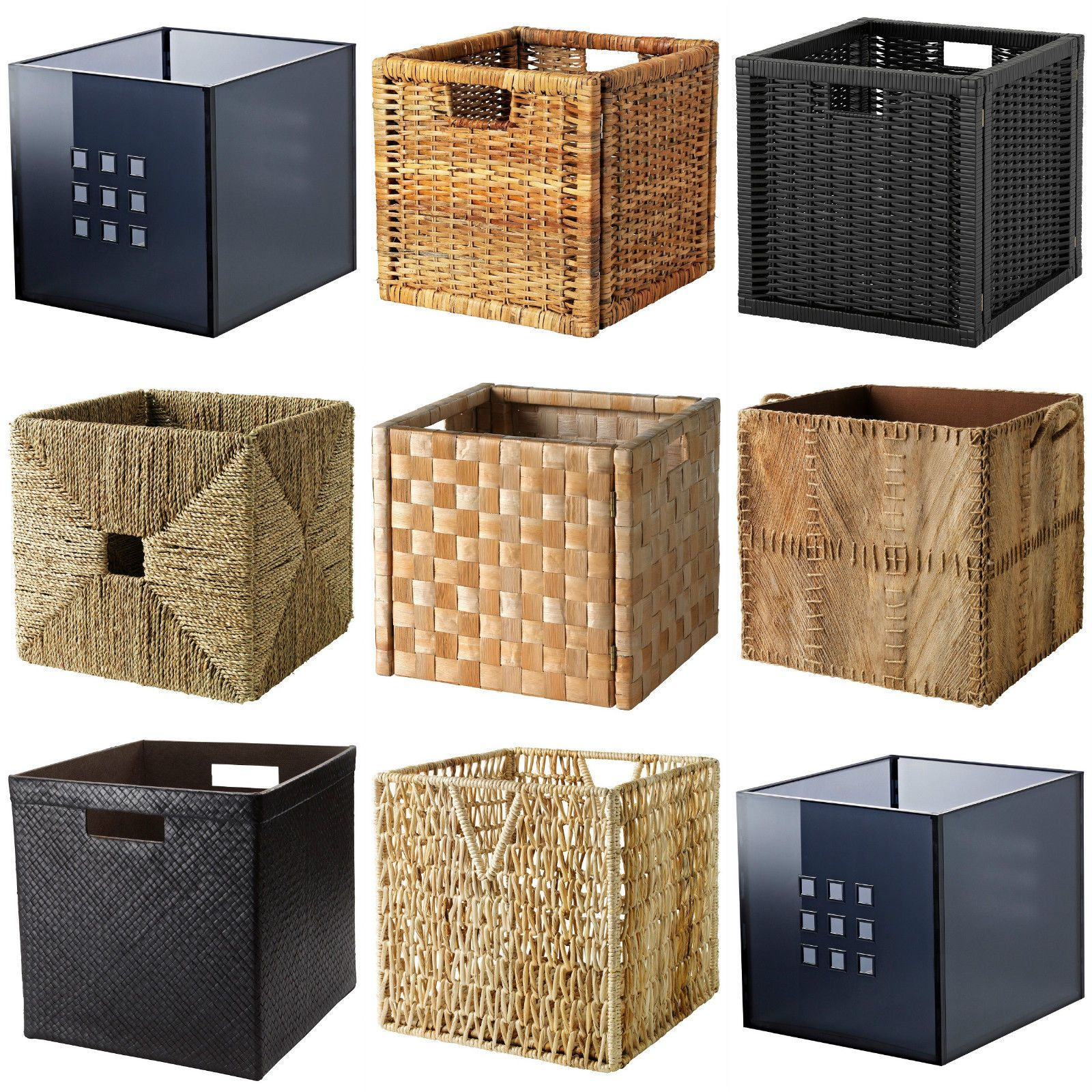 ikea boxes baskets dimensioned to fit expedit kallax. Black Bedroom Furniture Sets. Home Design Ideas