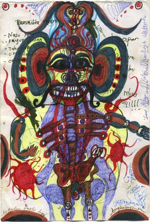 Noviadi Angkasapura    Untitled  , 2013 Marker, ink on paper 10.5 x 7 inches / 26.7 x 17.8 cm / NoA 48