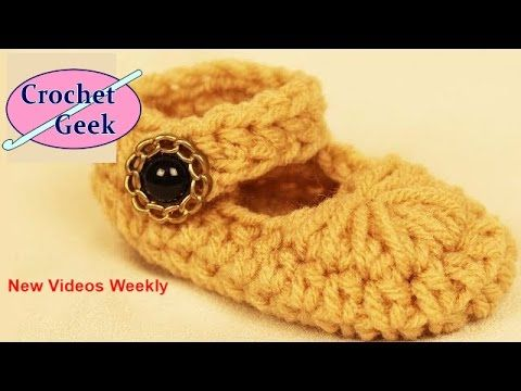 How to make Crochet Baby Mary Jane Bootie Slipper. Crochet for Beginners. https://goo.gl/sVF6bS New Videos Weekly!Fun DIY projects for the family, gift givin...