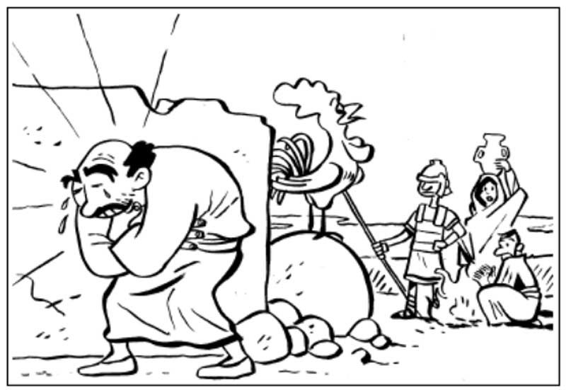 Pinto Dibujos: Pedro niega a Jesucristo para colorear   Pierre ...