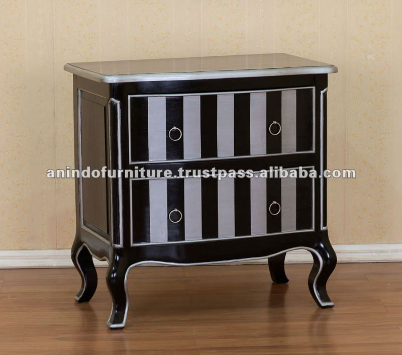 Pin By Hello Deco On Painted Furniture Ideas Striped Furniture Black Painted Furniture French Painted Furniture