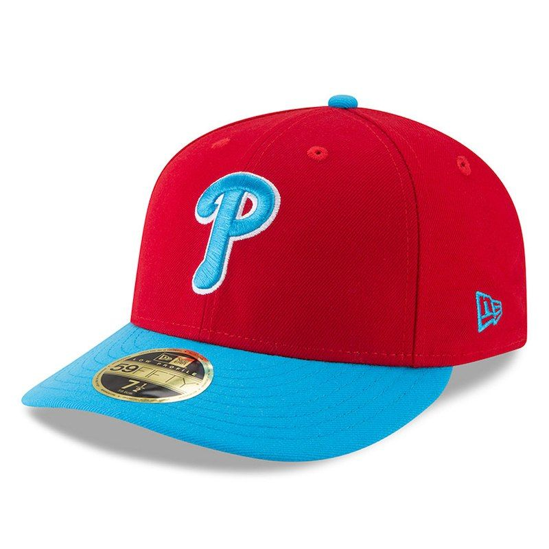 low priced 992de 9b12f Philadelphia Phillies New Era 2018 Players  Weekend Low Profile 59FIFTY  Fitted Hat – Red Aqua