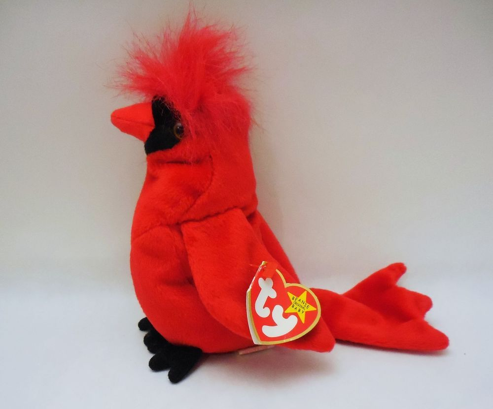 Ty Beanie Babies Mac Red Bird Cardinal Plush 1999 Mlb Promotional