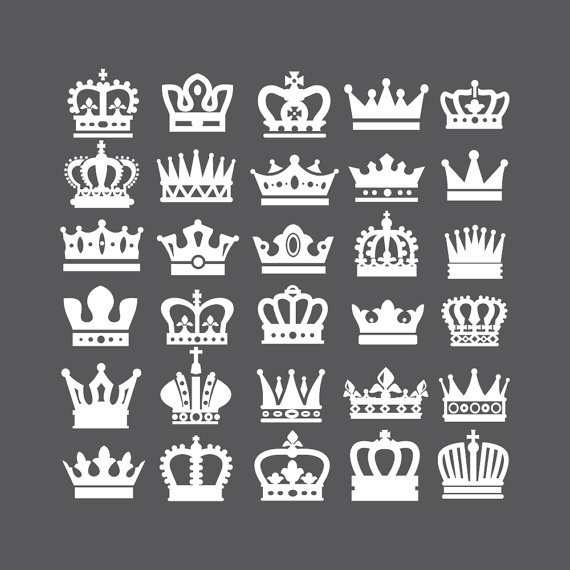 Crown Svg Crown Clipart Queen Crown King Crown Princess Crown Clipart Vector Svg Dxf Eps Ai Png Design Elements Instant Download In 2021 Crown Clip Art Crown Tattoo Design Crown Tattoo