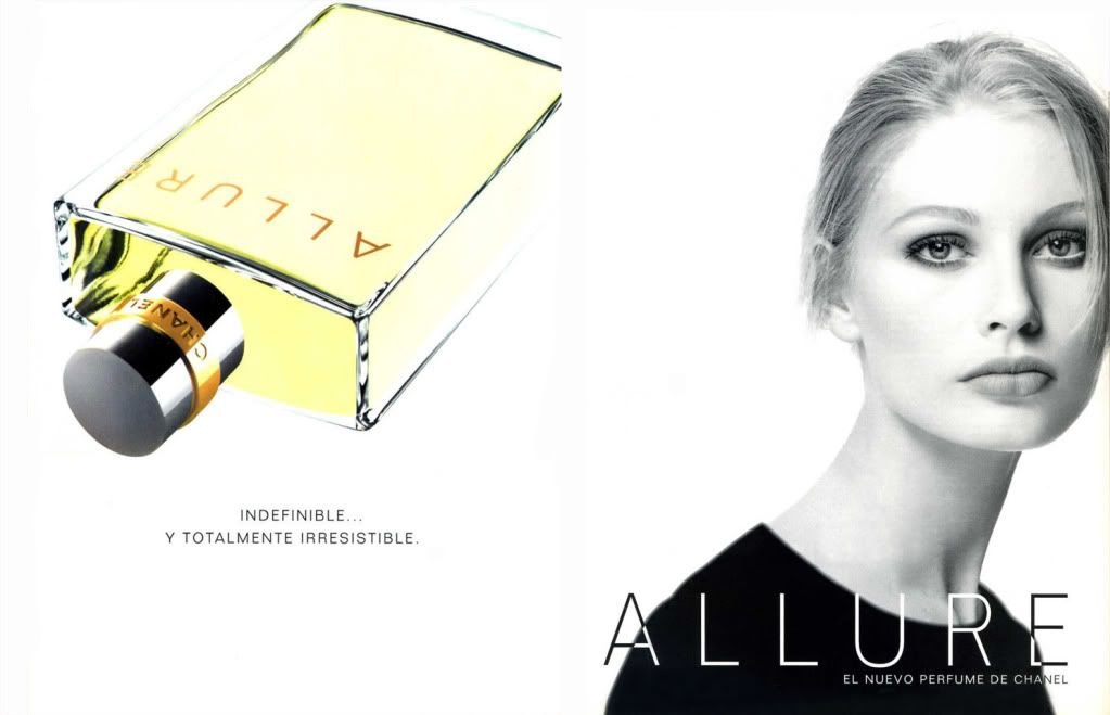 kirsty hume campaign chanel allure fragance 1996