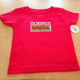 Childrens Tee Shirt I'm famous on facebook by ButterfliesnDreams, $18.00