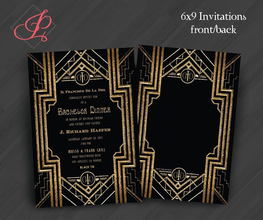 Anniversary, Engagement Invitations: Gatsby, Roaring 20s, Gold ...