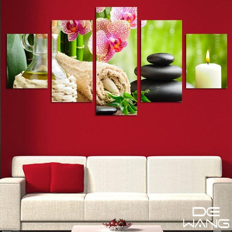 5 Pieces Canvas Wall Art Panels Large Wall Pictures For Living Room