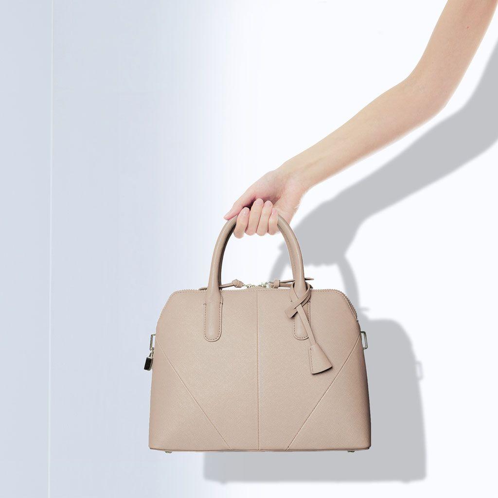 Mini leather tote bag zara - Zara City Bag With Zip Leather Vintage Handbag Crossbody Shoulder Bowler Tote