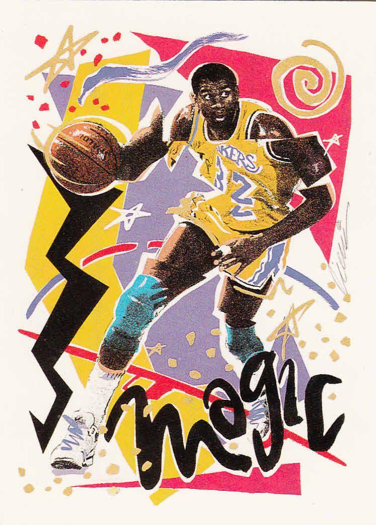 1990 nba hoops los angeles lakers team checklist card