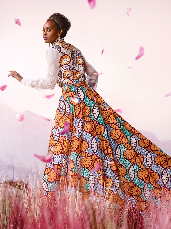 Vlisco | 'Bloom' 2014 | REGAL STYLE DRESS