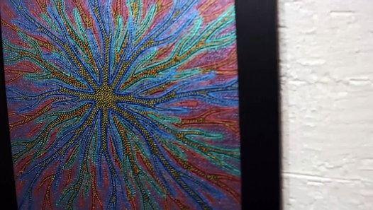 aperçu #vidéo #daylimotion #peinture #abstraite #pointillisme - peinture murale interieur maison