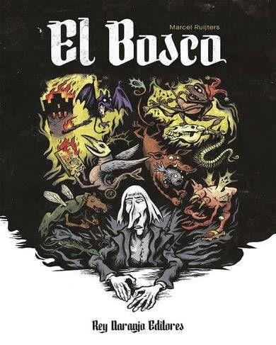 """El Bosco"""" es una novela gráfica basada en la vida de Jeroen van Aken, también conocido como Hieronymus Bosch, un pintor del medioevo que vivía en Den Bosch, Holanda. Este libro pretende conmemorar los 500 años de la muerte del artista holandés.  http://rabel.jcyl.es/cgi-bin/abnetopac?SUBC=BPBU&ACC=DOSEARCH&xsqf99=1848961"""