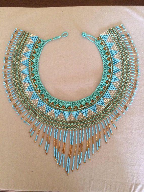 3216e9c15d35 Chaquira muy chic handbeaded collar