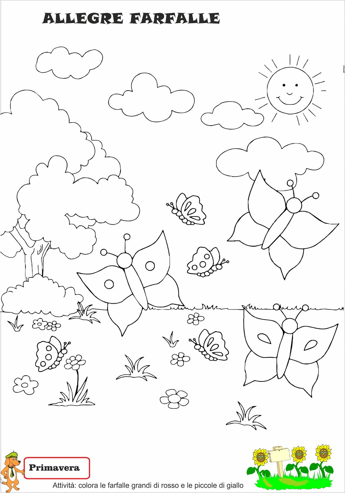 Schede Didattiche Primavera Stampe Per Bambini Disegno Per Bambini Fai Da Te Primavera