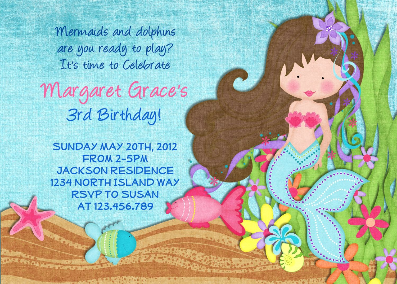 Mermaid Invitation - Mermaid Party - Under the Sea - Mermaid ...