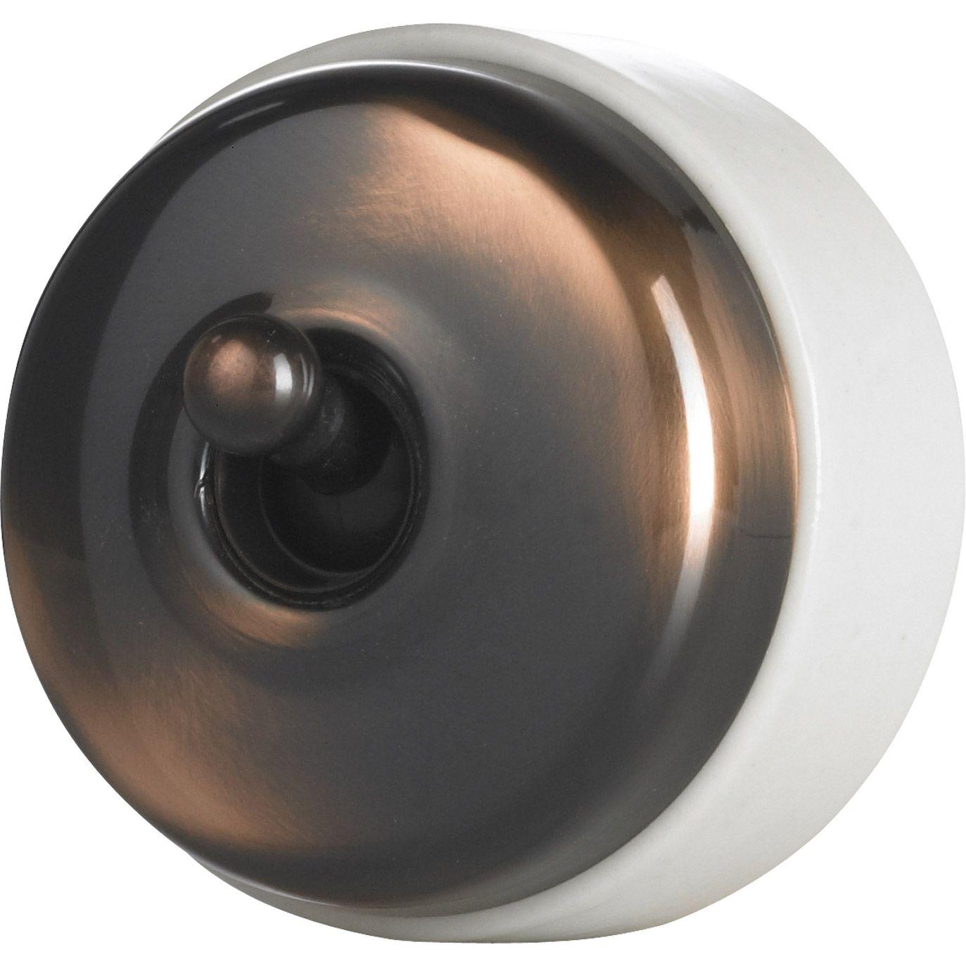 interrupteur va et vient en saillie cuivre schneider electric h ritage pinteres. Black Bedroom Furniture Sets. Home Design Ideas