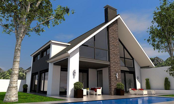 Neues Haus Mit Satteldach Foto Magda Fischer Fotolia Com Architektur Haus Haus Architektur Haus