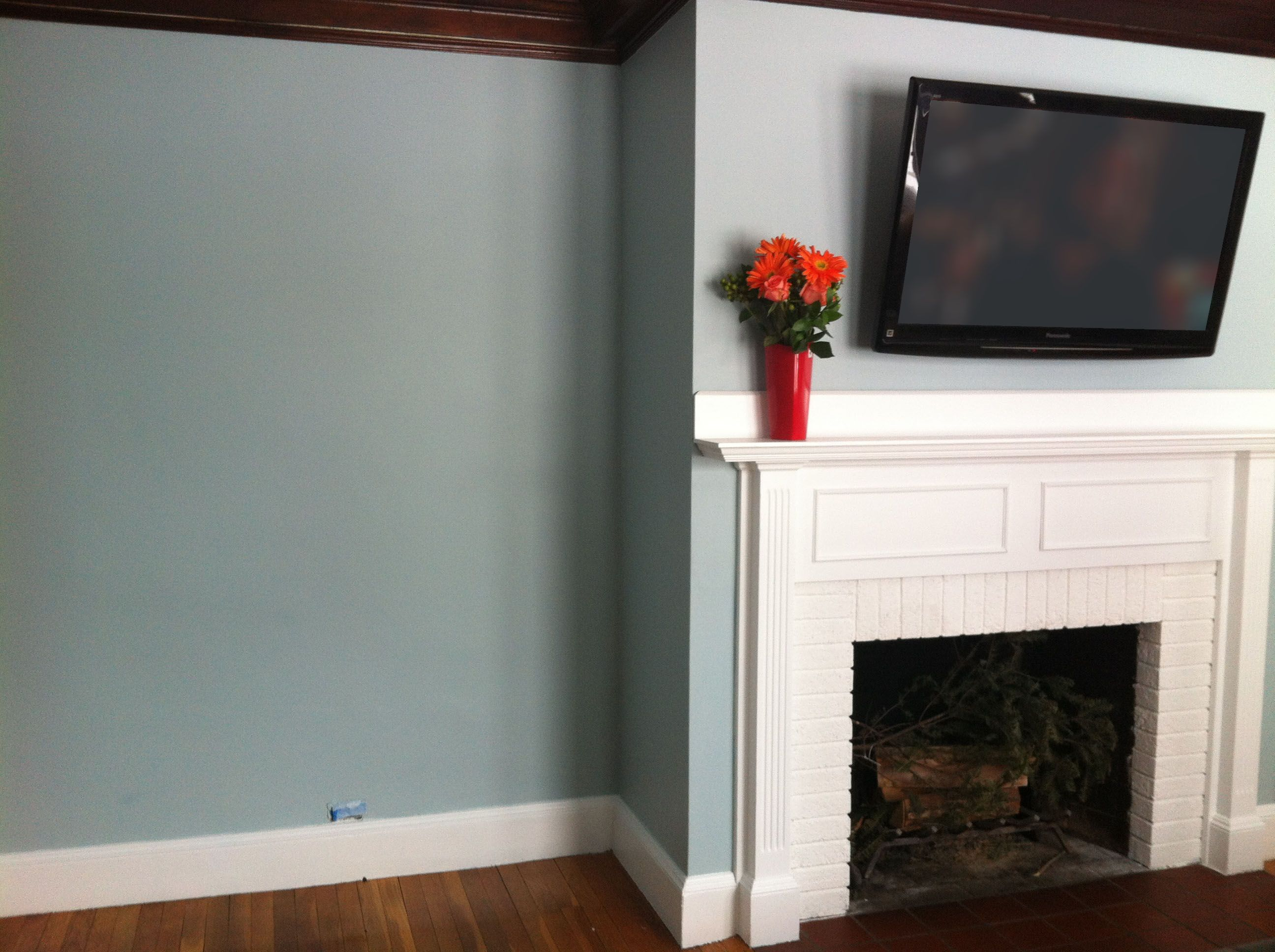 Living Room Benjamin Moore Yarmouth Blue
