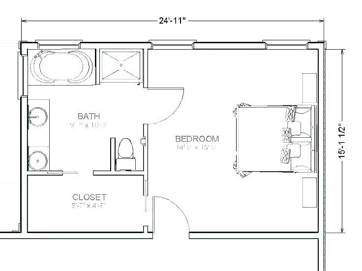Master Bathroom Sizes Average Size Bathroom In 2020 Master Bathroom Layout Master Bath Layout Master Bedroom Plans