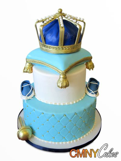 Royal Crown On Pillow Baby Shower Cake