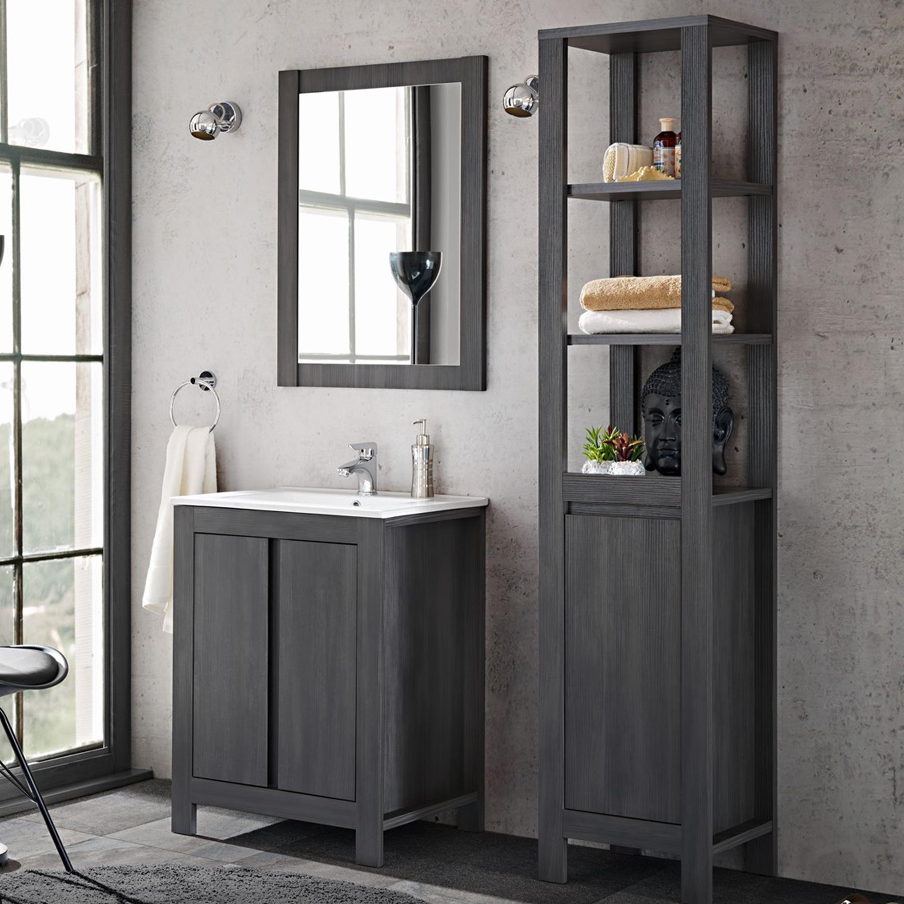 Badmobel Set 3 Tlg Badezimmerset Klassik Grau Inkl Waschtisch 60 Cm Badezimmer Set Badezimmereinrichtung Luxusbadezimmer