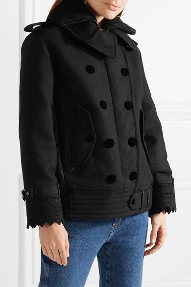 Moncler - Clarissa Wool-blend Twill And Quilted Shell Jacket - Black