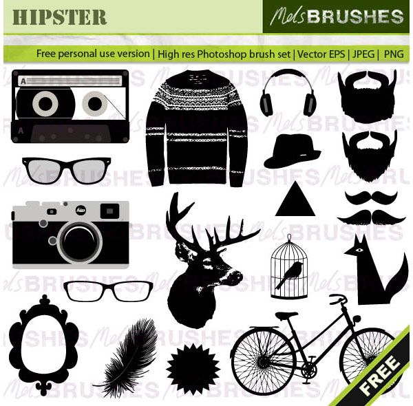 Hipster Vector Graphics Free Pinterest Vector graphics, Graphics