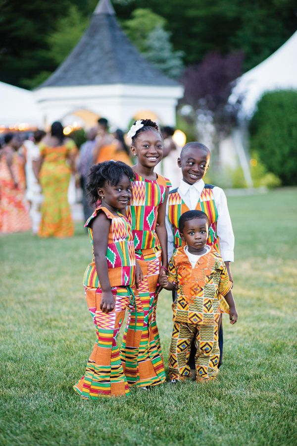 69d5a8ddb cute! children in traditional kente cloth during wedding reception. ghanaian  wedding. petronella photography