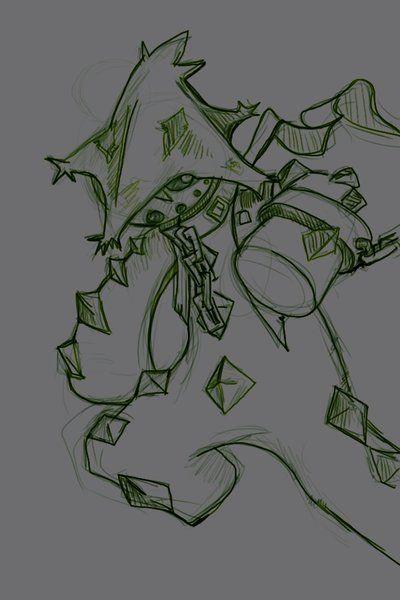 Cacturne sketching by Edli-Dark