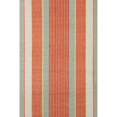 8x10 400dash And Albert Rugs Woven Orange Autumn Stripe