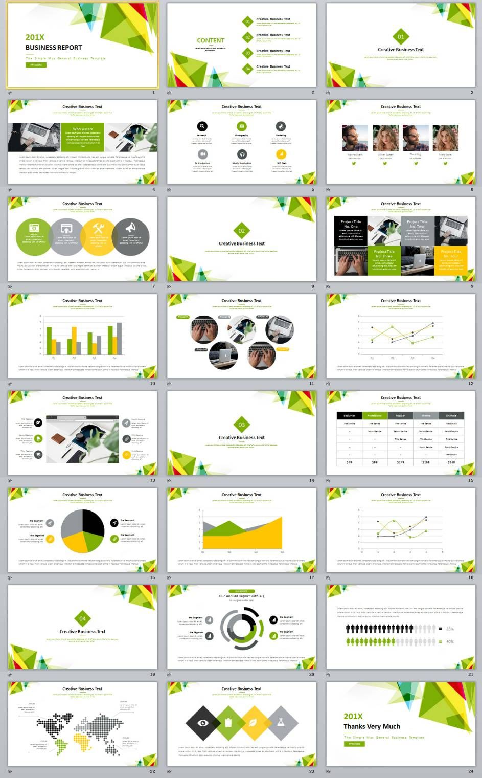 24 Simple Business Report Powerpoint Templates Book Layout