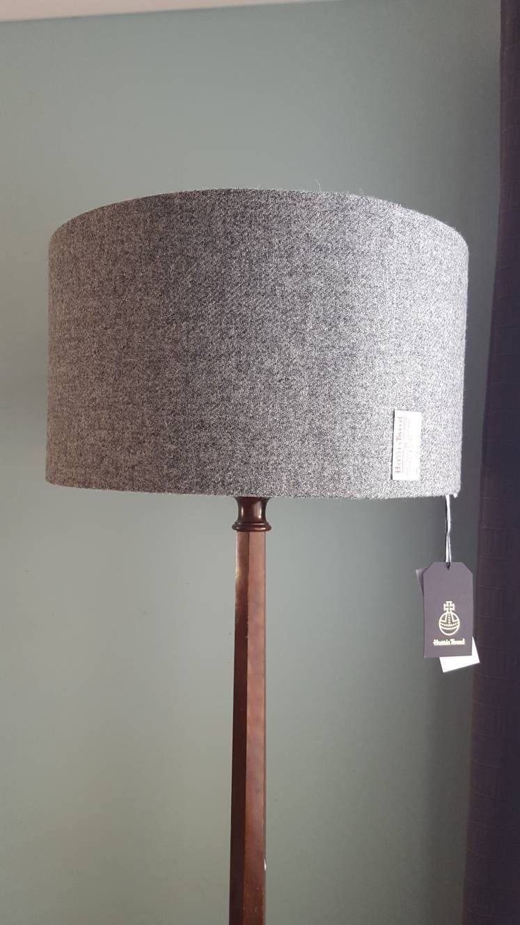 Large Harris Tweed Floor Lampshade Scottish Country Decor Standard Lamp Large Ceiling Light Floor Lamp Big Lampshades Standard Lamps Floor Lampshades Scottish Decor
