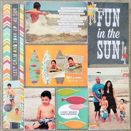 A Simple Stories I Heart Summer layout by Allison Davis.