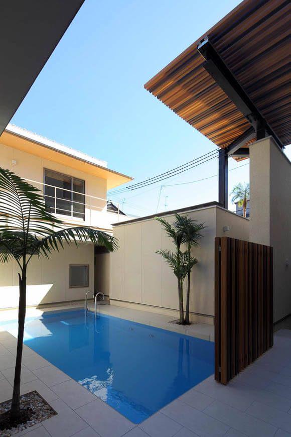プール 水庭のある家 都心でリゾートを感じる家 アーキッシュ