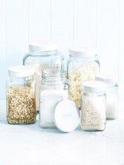 Glass storage Jars - Mixed Set of 6