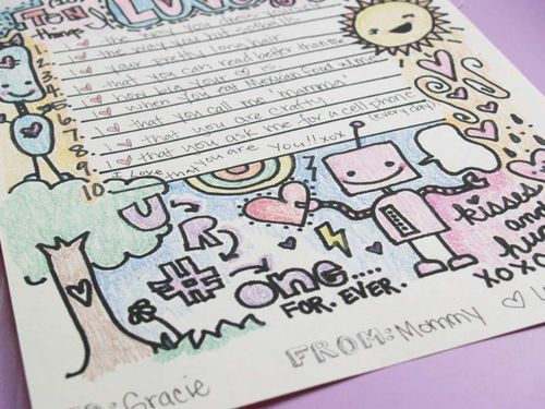 Love this free printable love letter template Great for parents