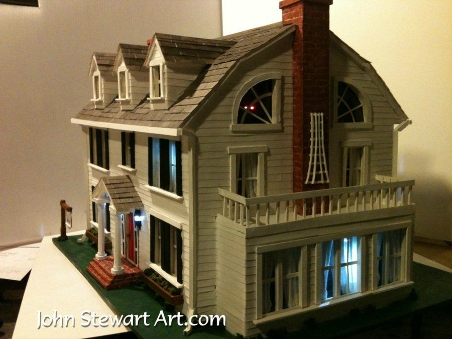 The amityville horror house scale model by johnstewartart for Model house movie