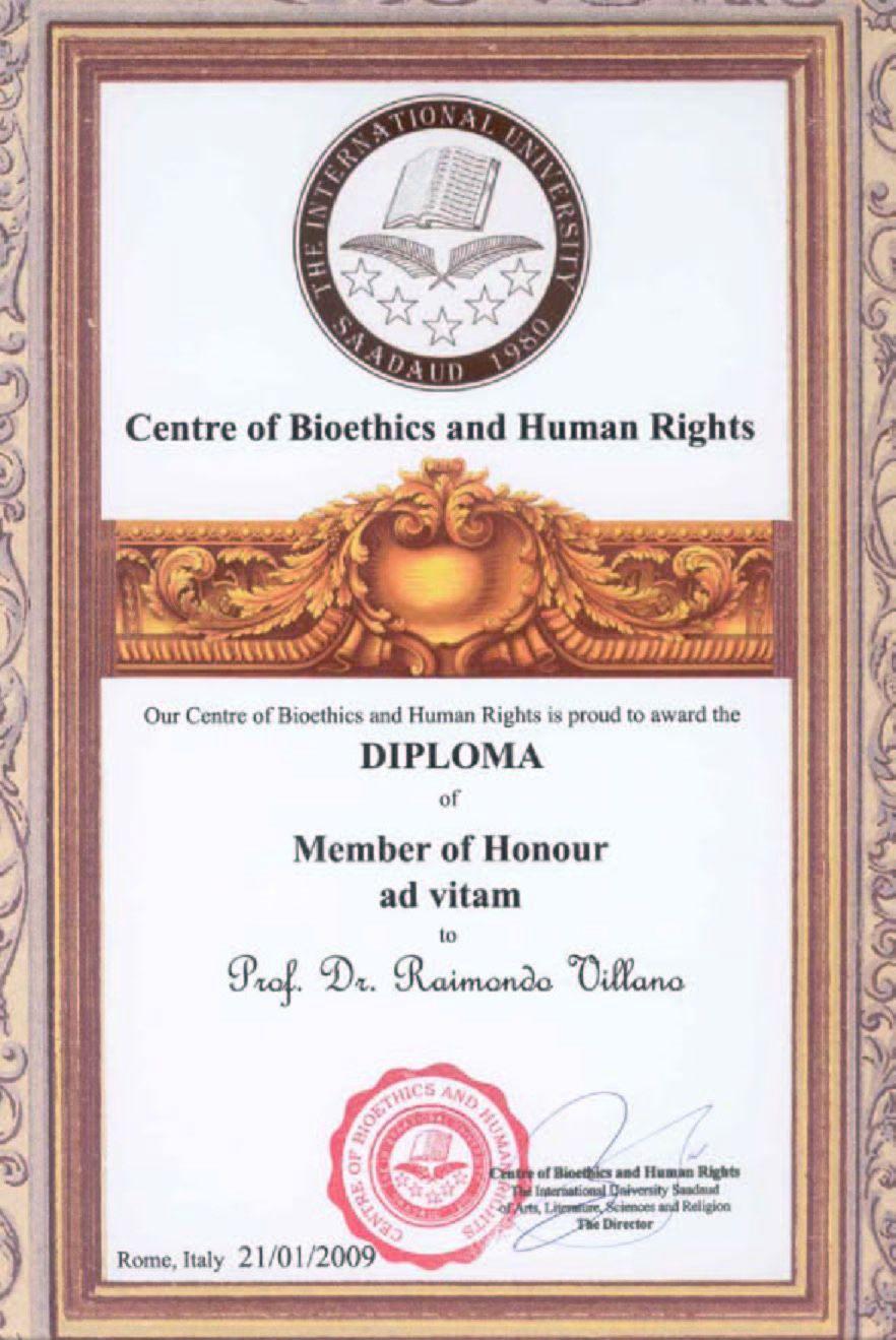 Diploma of member of honour ad vitam del centre of bioethics and diploma of member of honour ad vitam del centre of bioethics and human rights dellinternational university sadaud of arts literature sciences and xflitez Choice Image