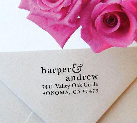 Lovely Ampersand Address Stamp