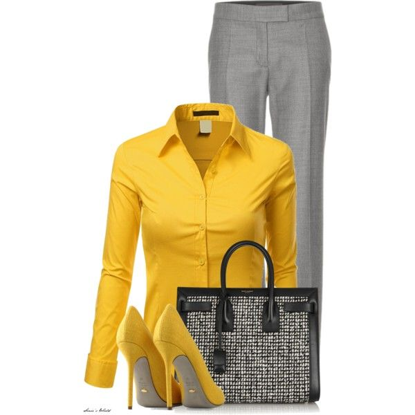 Time to work by sonies-world on Polyvore featuring polyvore fashion style Doublju STELLA McCARTNEY Sergio Rossi Yves Saint Laurent