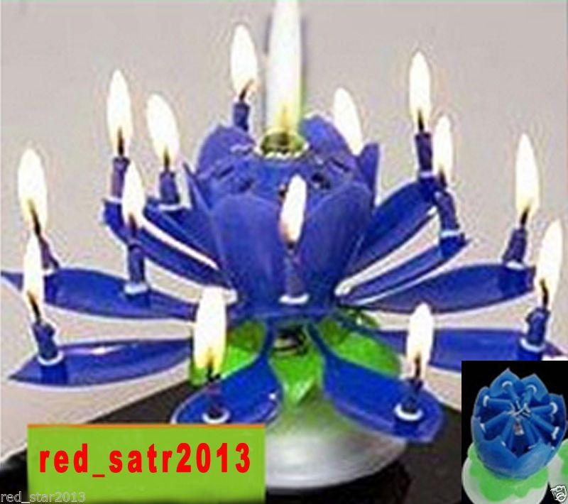 musical birthday cake candle sparkler fountain flower