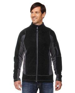 North End Generate Men'sTextured Fleece Jackets 88198 BLACK 703