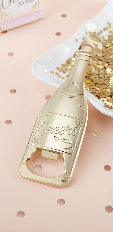 Gold Champagne Shaped Bottle Opener | Gold champagne, Bottle opener ...
