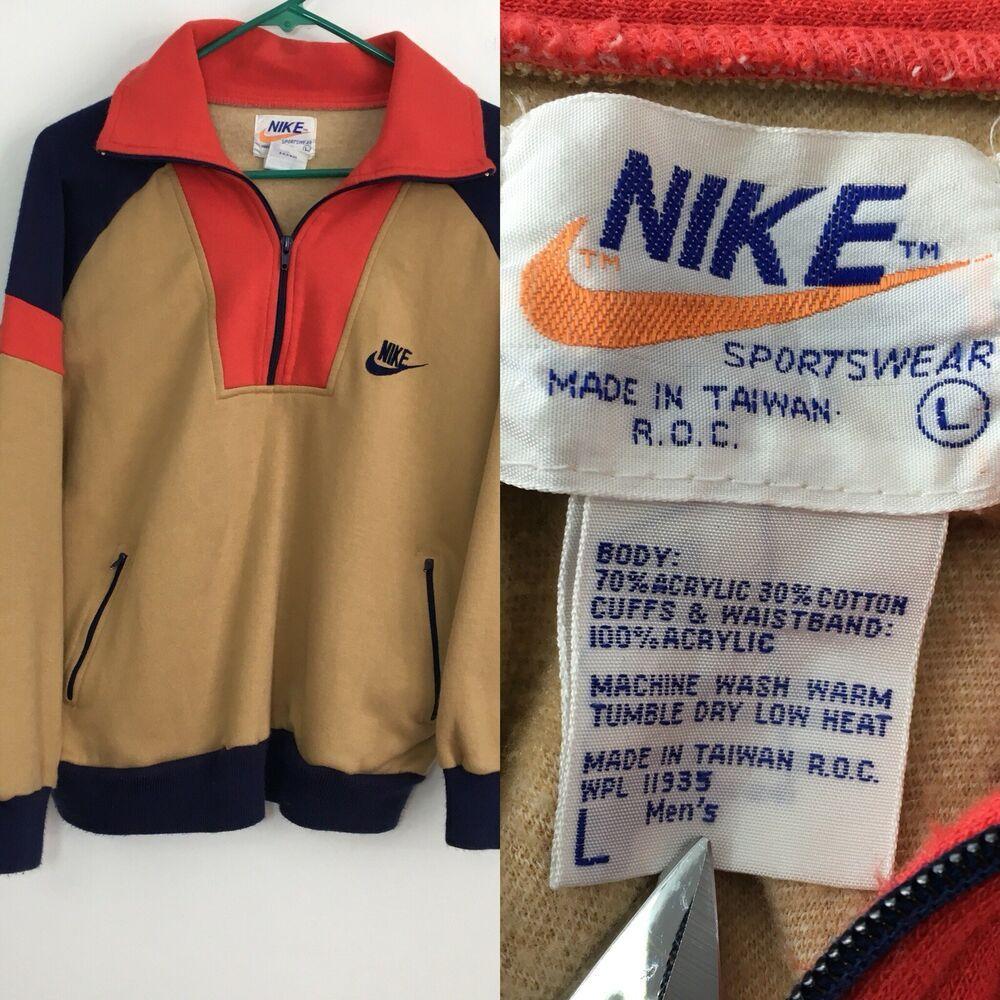 Vintage Nike Colorblock Sweatshirt 70 S 80 S Vintage Large L 1 4 Zip Long Sleeve Ebay Vintage Nike Sweatshirt Vintage Nike Color Block Sweatshirt