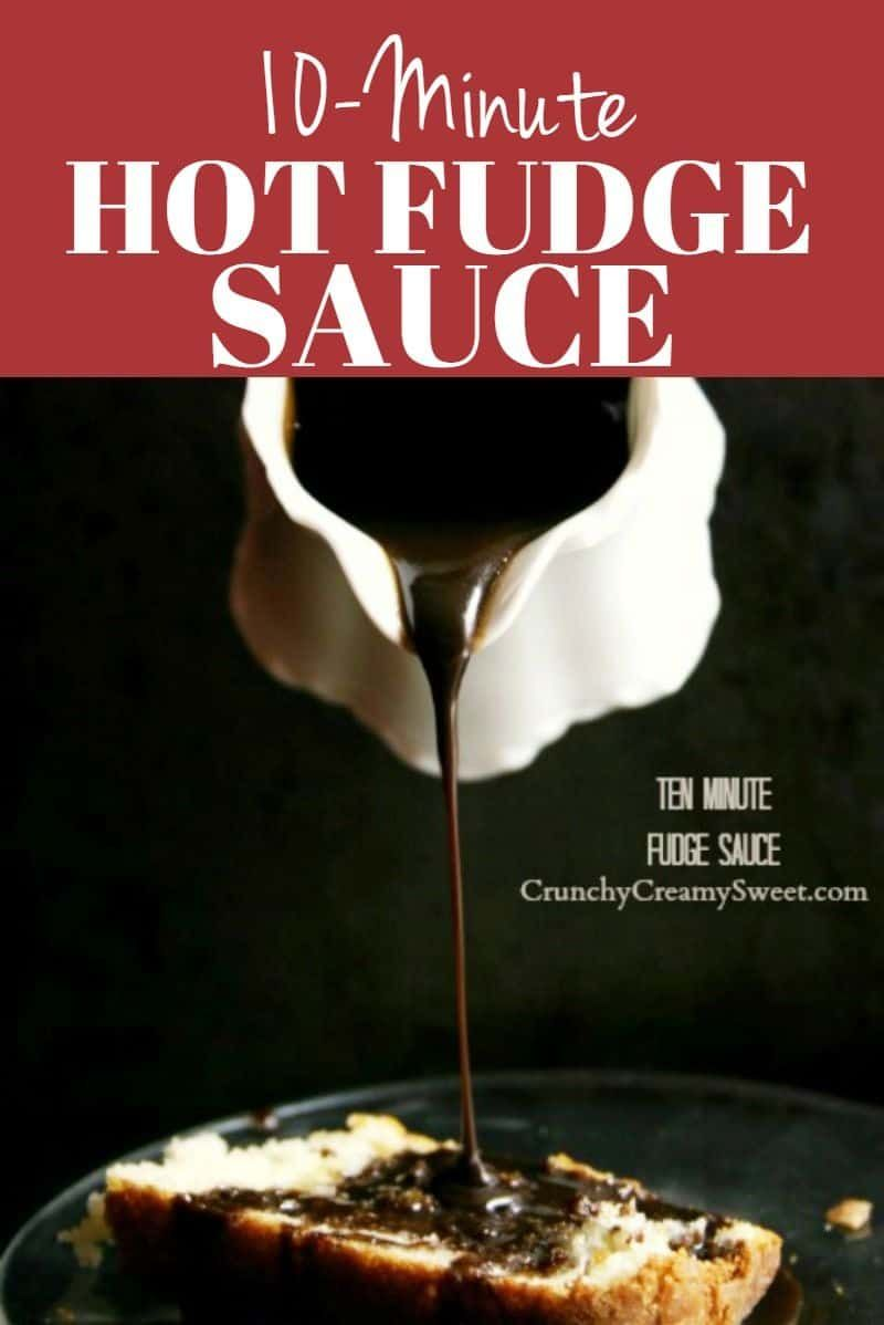 10-Minute Hot Fudge Sauce 10-Minute Hot Fudge Sauce - incredibly simple and delicious hot fudge sauce made with brown sugar, cocoa powder, butter, milk and vanilla. You can make it in just 10 minutes!