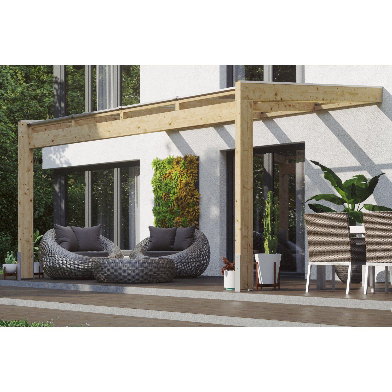 Skan Holz Terrassenuberdachung Novara 450 Cm X 259 Cm Unbehandelt Kaufen Bei Obi In 2020 Terrassenuberdachung Uberdachung Terrasse Terrasse Uberdachung Holz